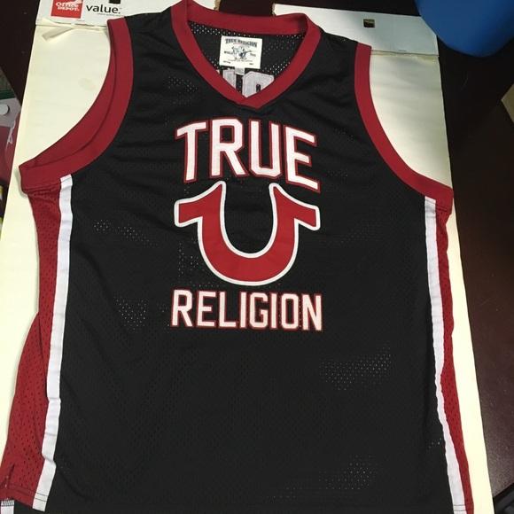 97d0d1d74 True religion basketball jersey black red. M 5b400c9404e33dc8e0d430e7